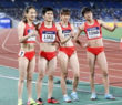 """【画像あり】中国陸上""""女子""""400Mリレーに『男性』が2人出場? 全く女子見えないと話題に!"""